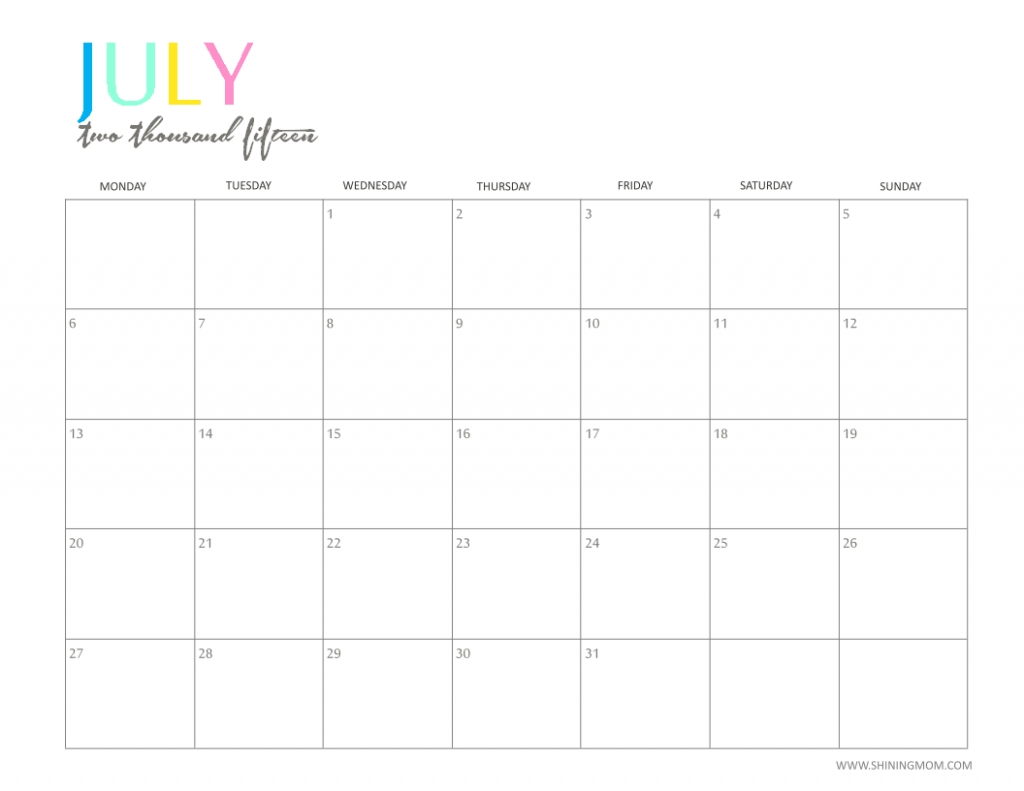Printable Calendar 2018 Imom | Printable Calendar 2020