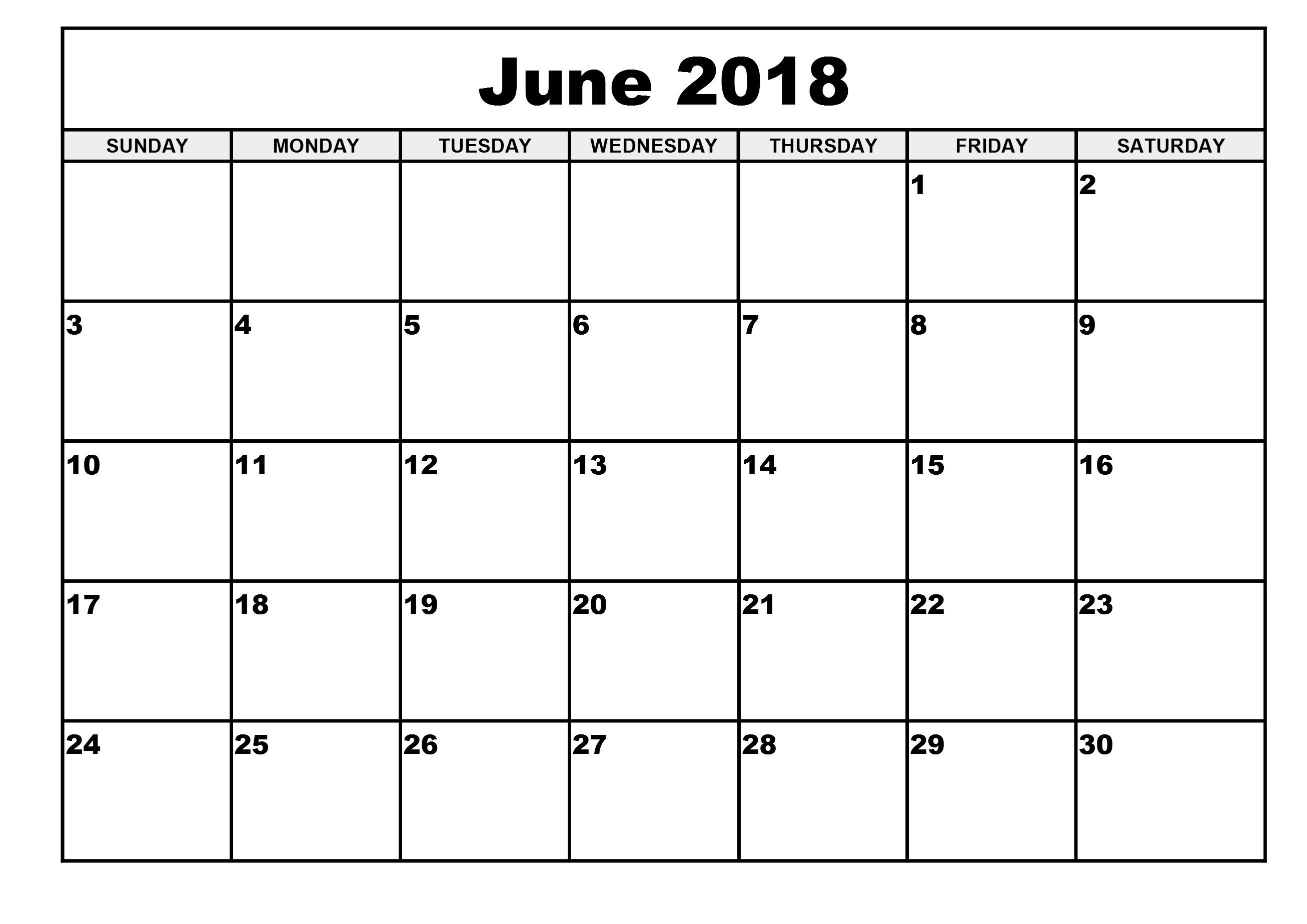 Printable Calendar 2018 June July August September