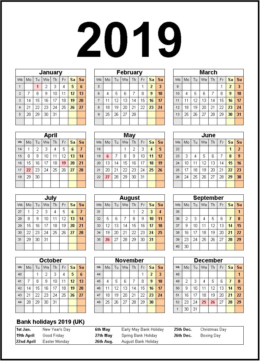 Printable Calendar 2019 United States Holidays | Calendar