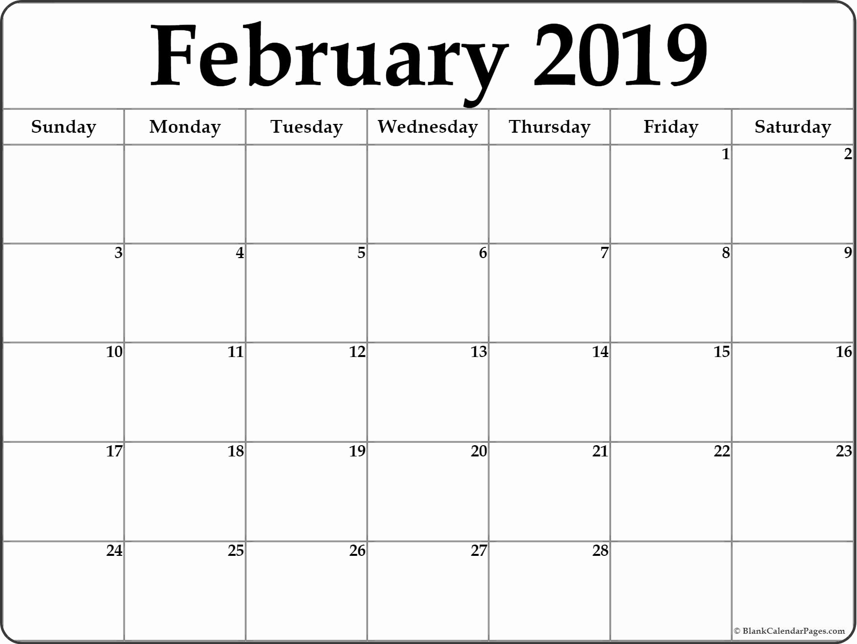 Printable Calendar 2019 Vertex42   Printable Calendar 2020