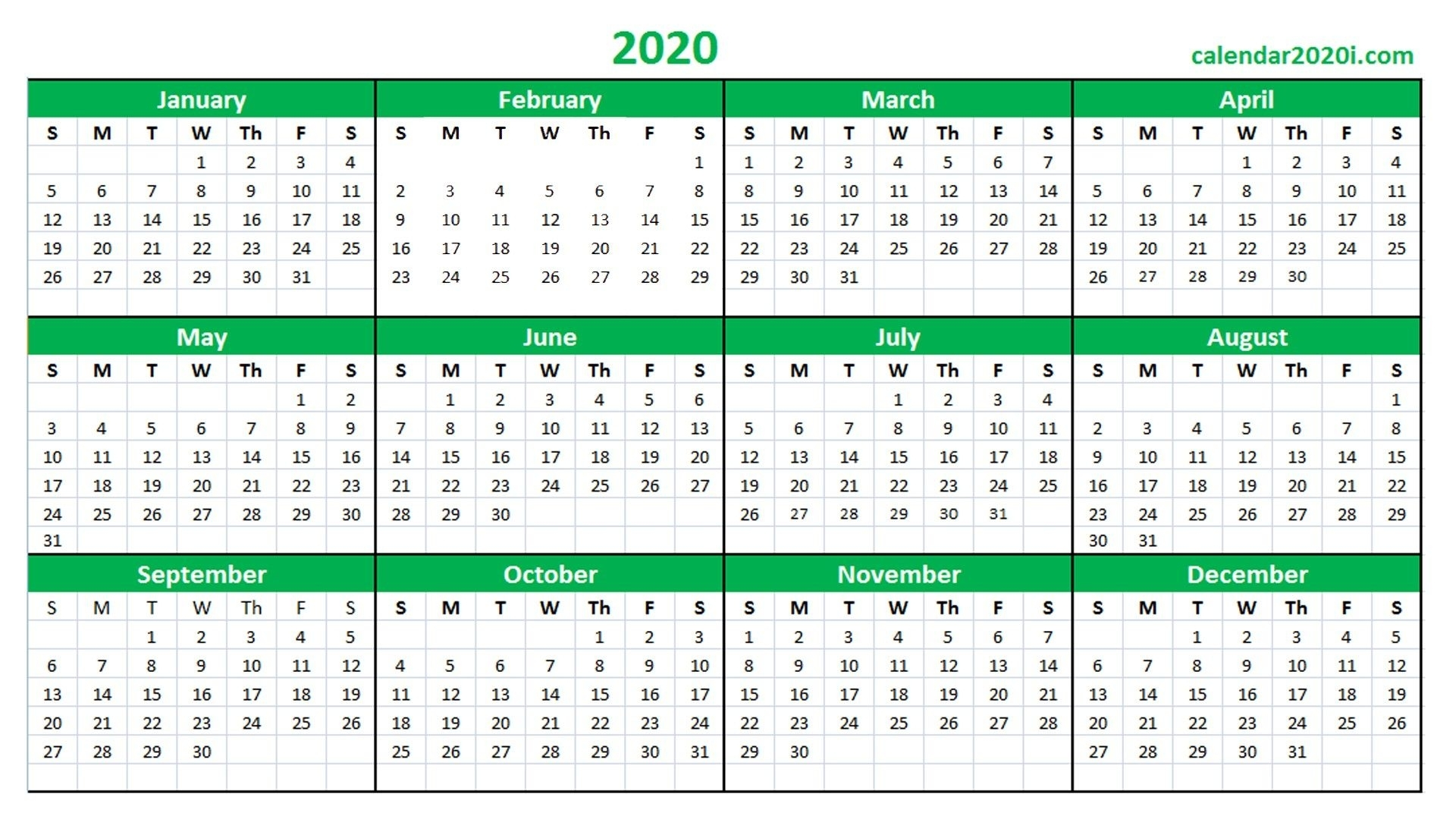 Printable Calendar 2020 16 – Welcome For You To Our Website