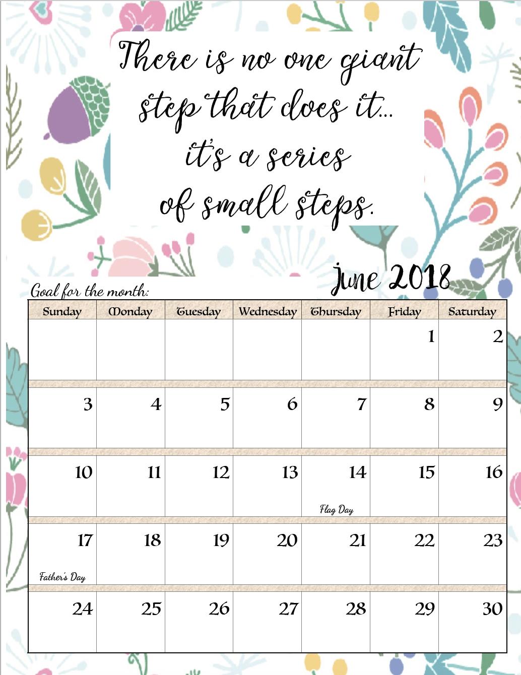 Printable Calendar Book 2018 | Printable Calendar 2019