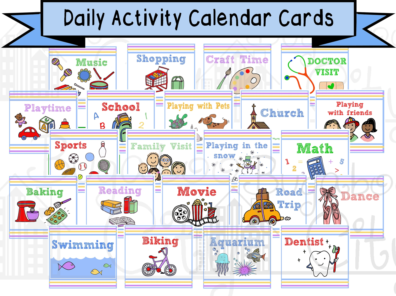 Printable Calendar Cards For Pocket Chart | Printable