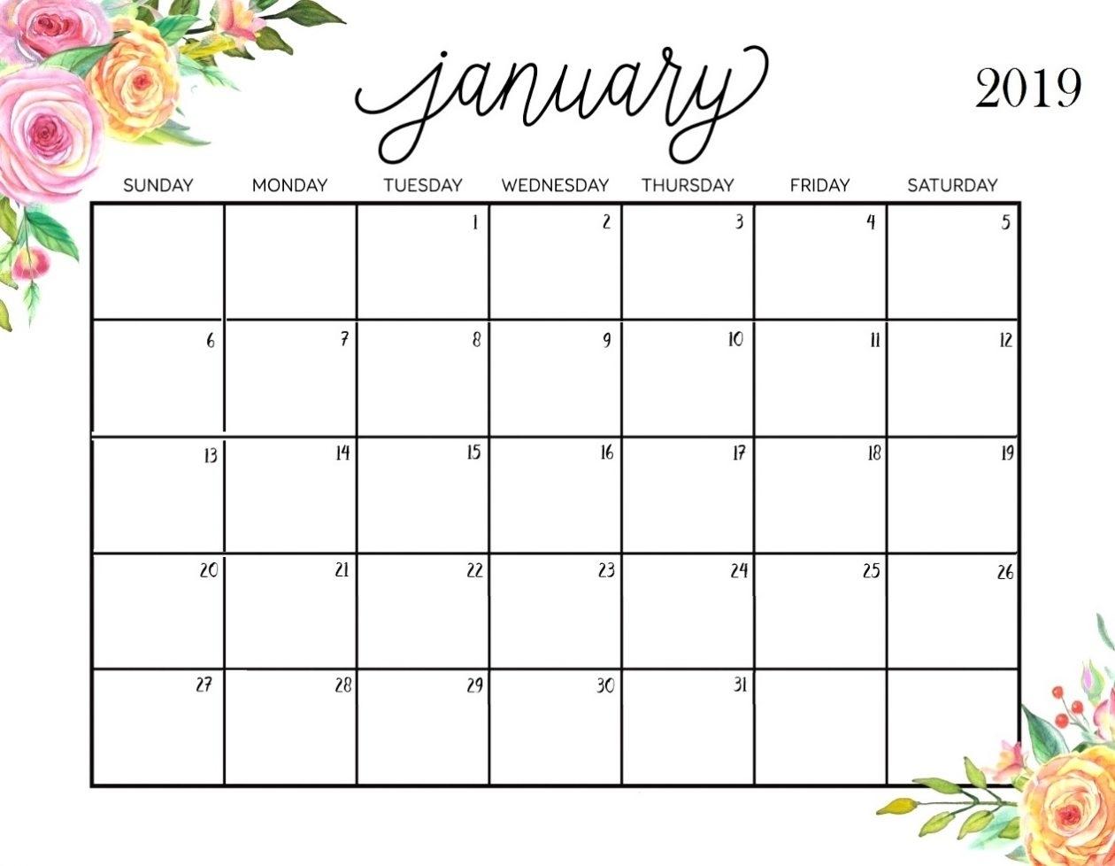 Printable Calendar Cute 2019 | Printable Calendar 2020