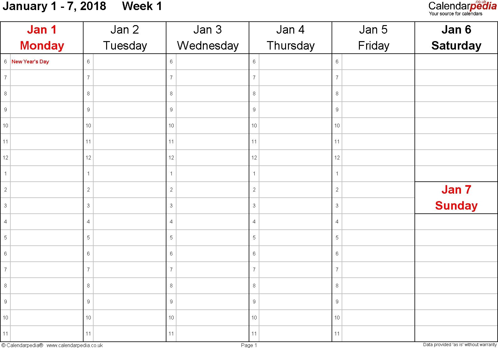 Printable Calendar Daily 2018 | Printable Calendar 2020