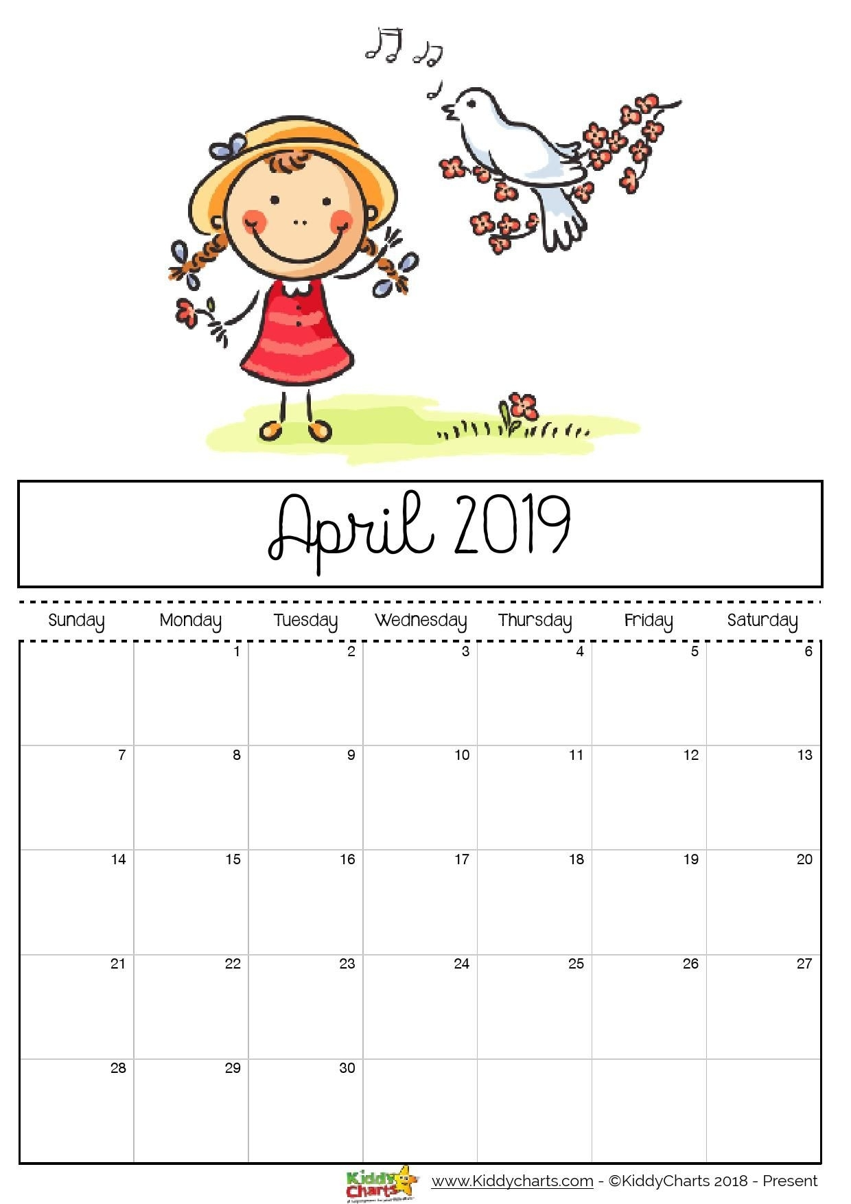 Printable Calendar Kid Friendly | Printable Calendar 2020