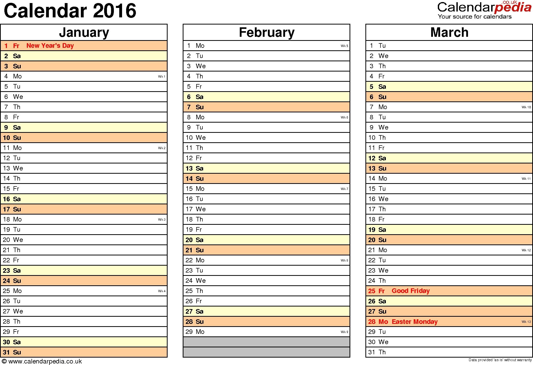 Printable Calendar List View | Printable Calendar 2020