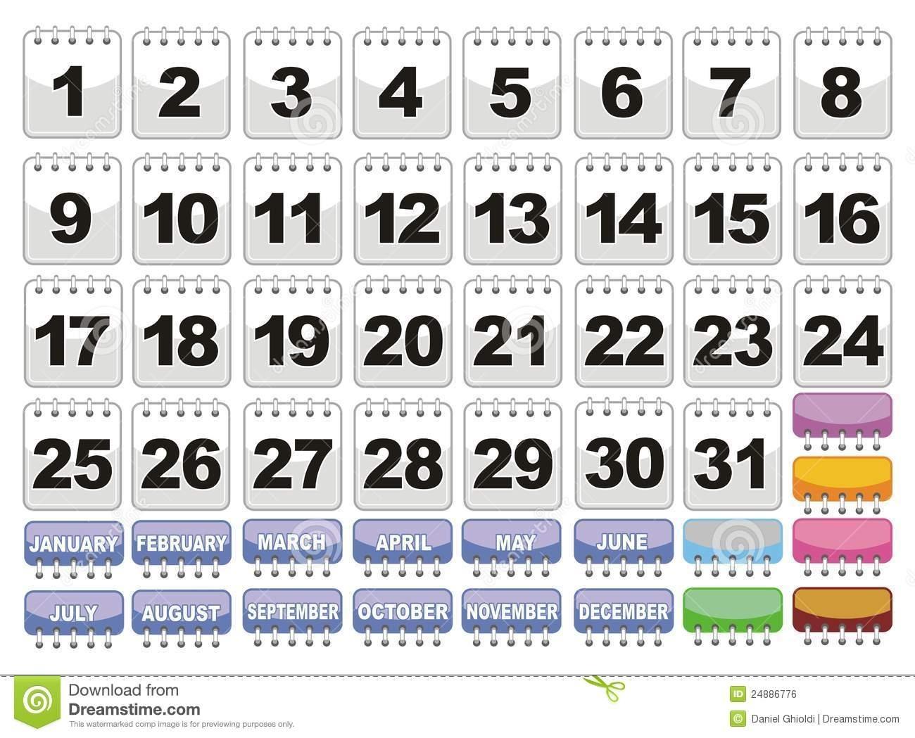Printable Calendar Numbers 1 31 | Printable Calendar 2020
