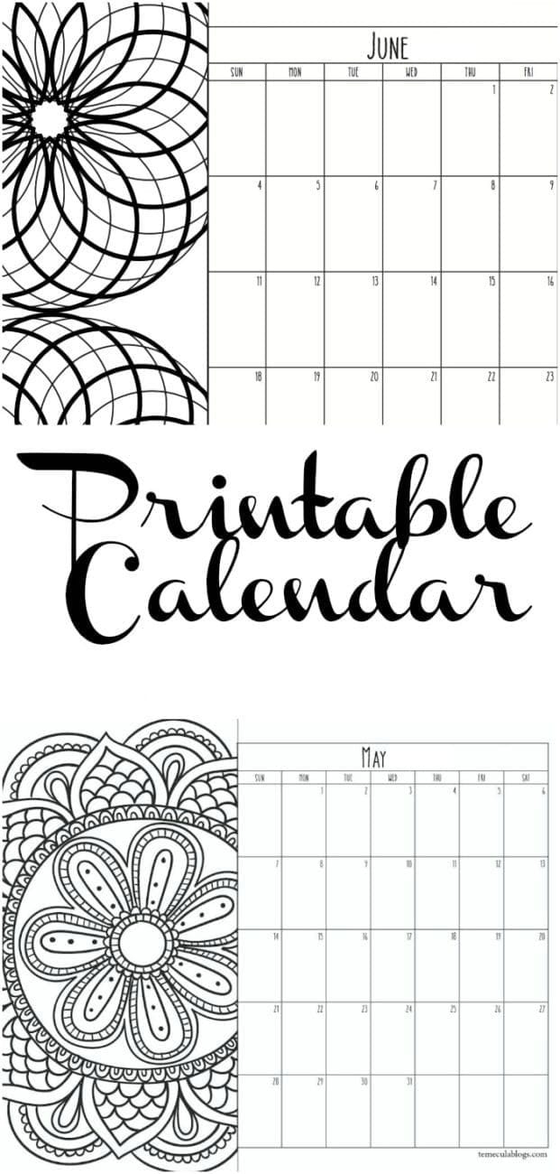 Printable Calendar Pages · The Typical Mom