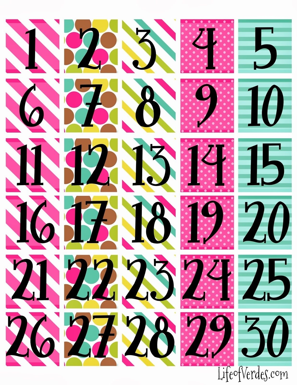 Printable Calendar Pieces | Printable Calendar 2020