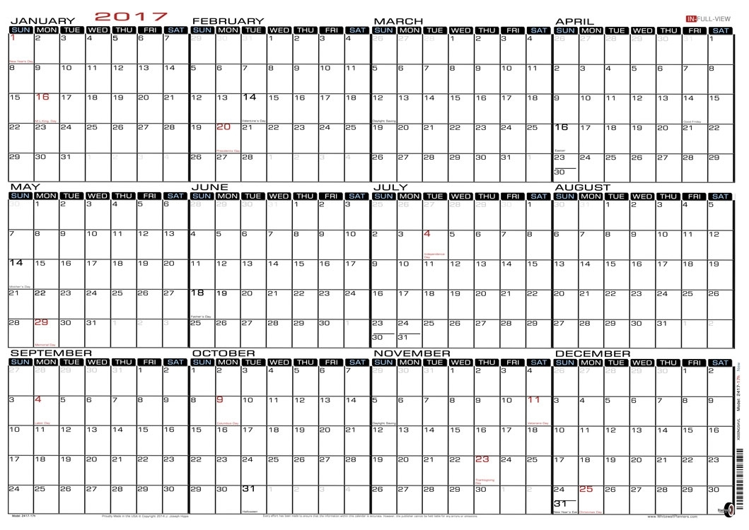 Printable Calendar Strips 2016 | Calendar Template 2019