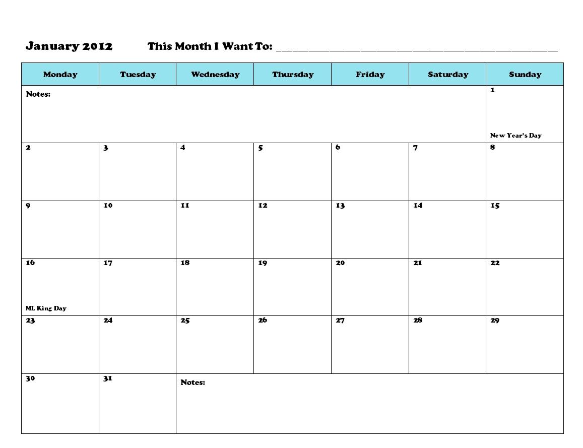 Printable Calendar To Write On | Printable Calendar 2020