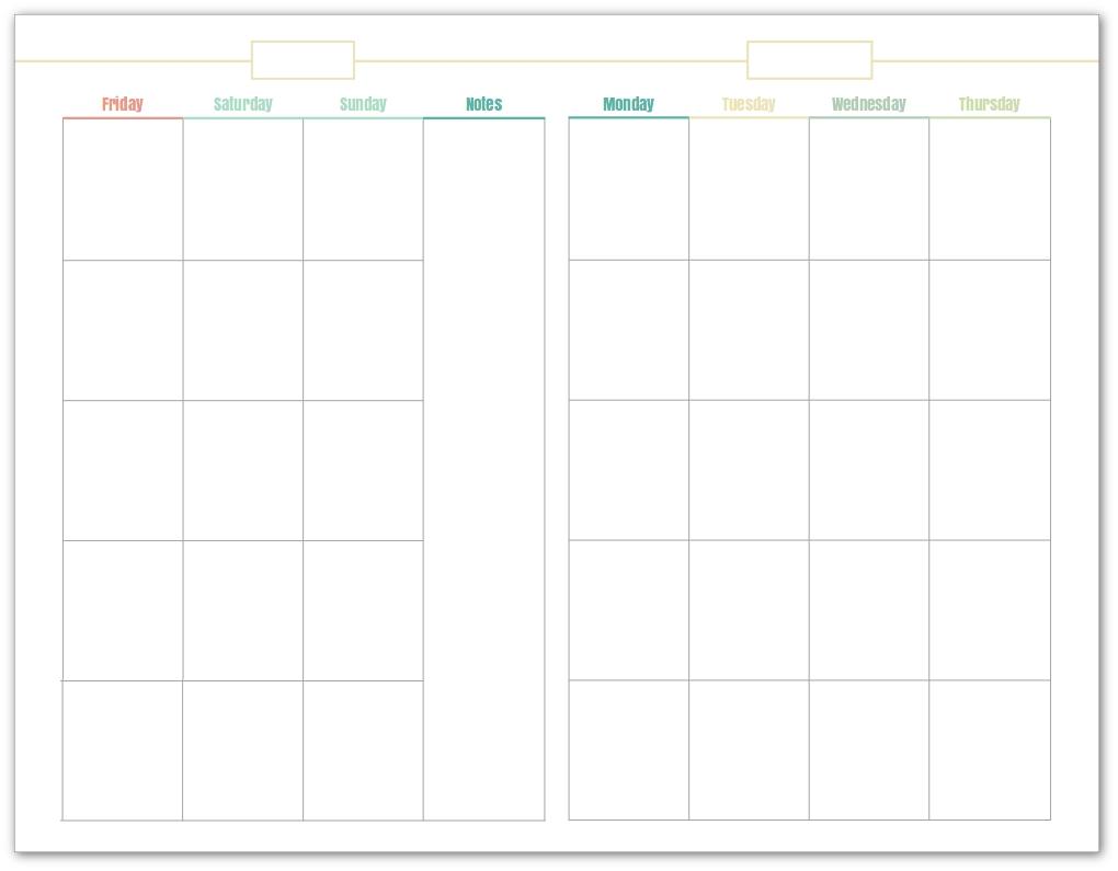 Printable Calendar Undated | Printable Calendar 2020