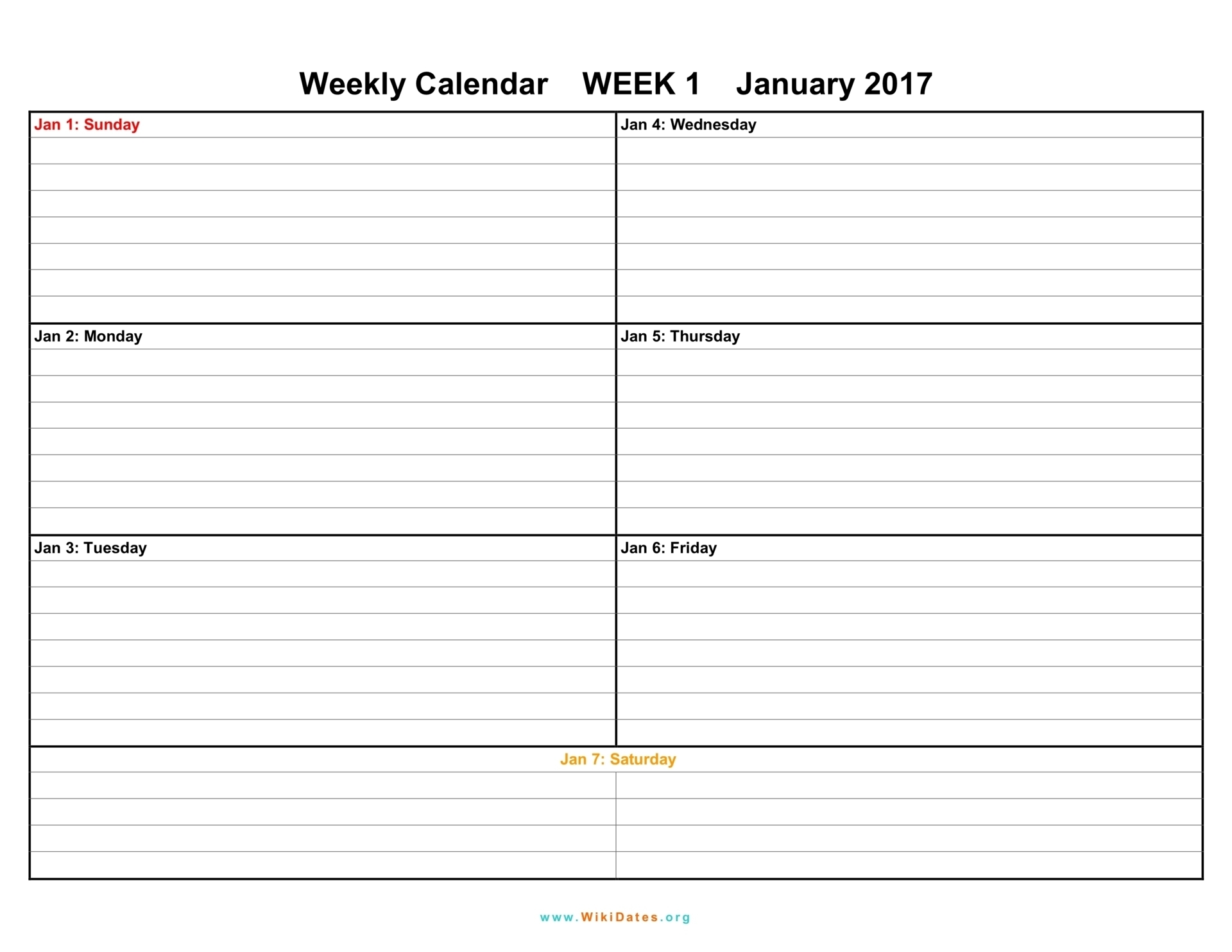 Printable Calendar Weekly 2018   Printable Calendar 2020