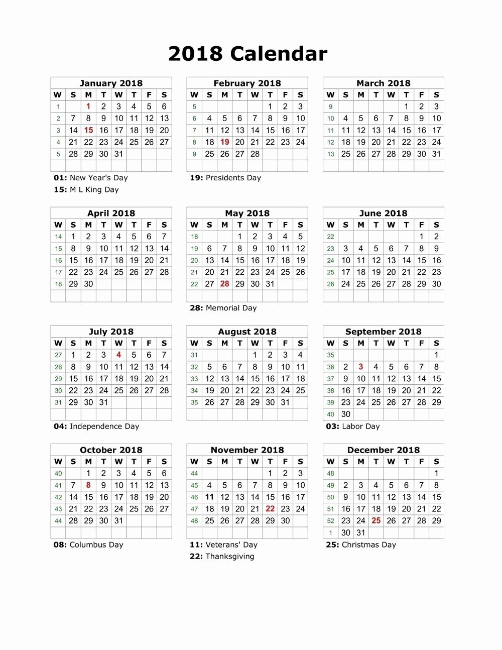 Printable Calendarlabs 2018 | Printable Calendar 2020