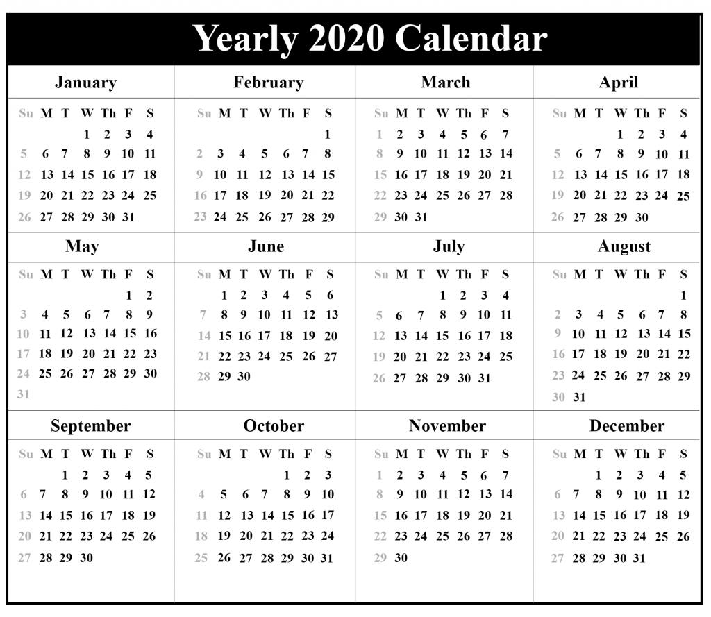 Printable Free Blank Australia 2020 Calendar [Pdf, Excel
