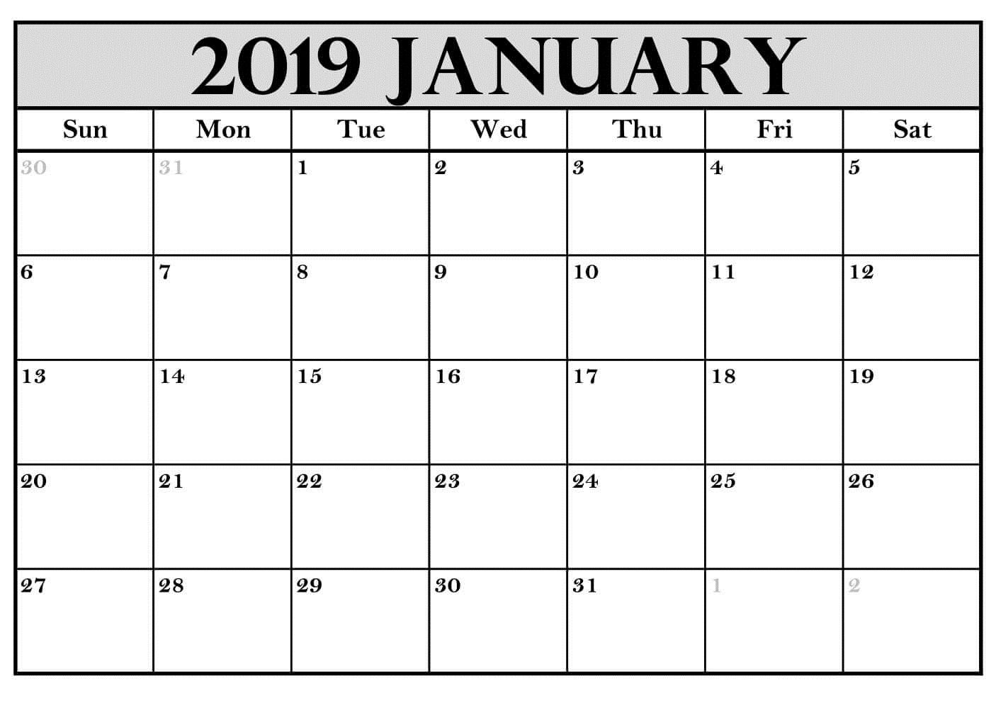 Printable January 2019 Calendar Australia | July Calendar