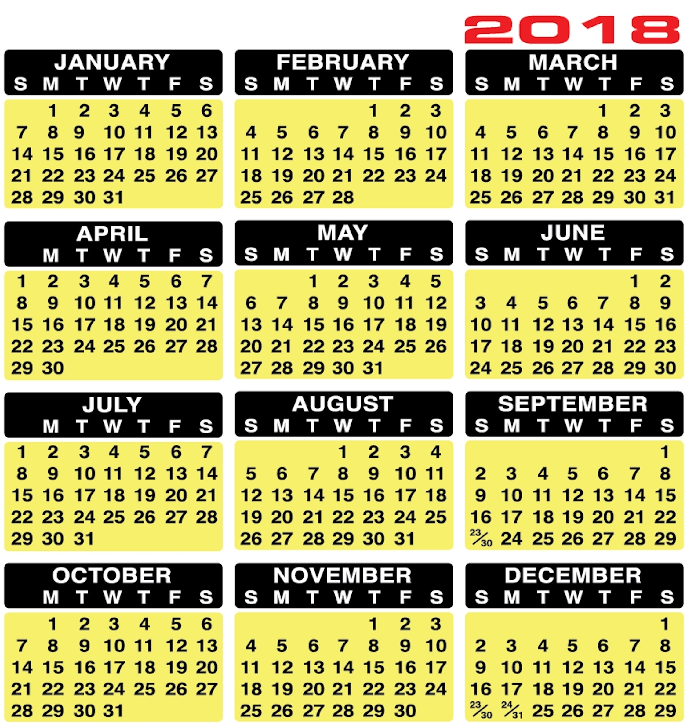 Printable Keyboard Calendar Strips 2019 | Calendar Design Ideas