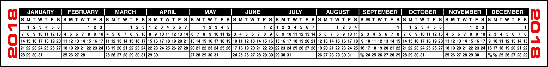 Printable Keyboard Calendar Strips 2019 | Calendar Design Ideas