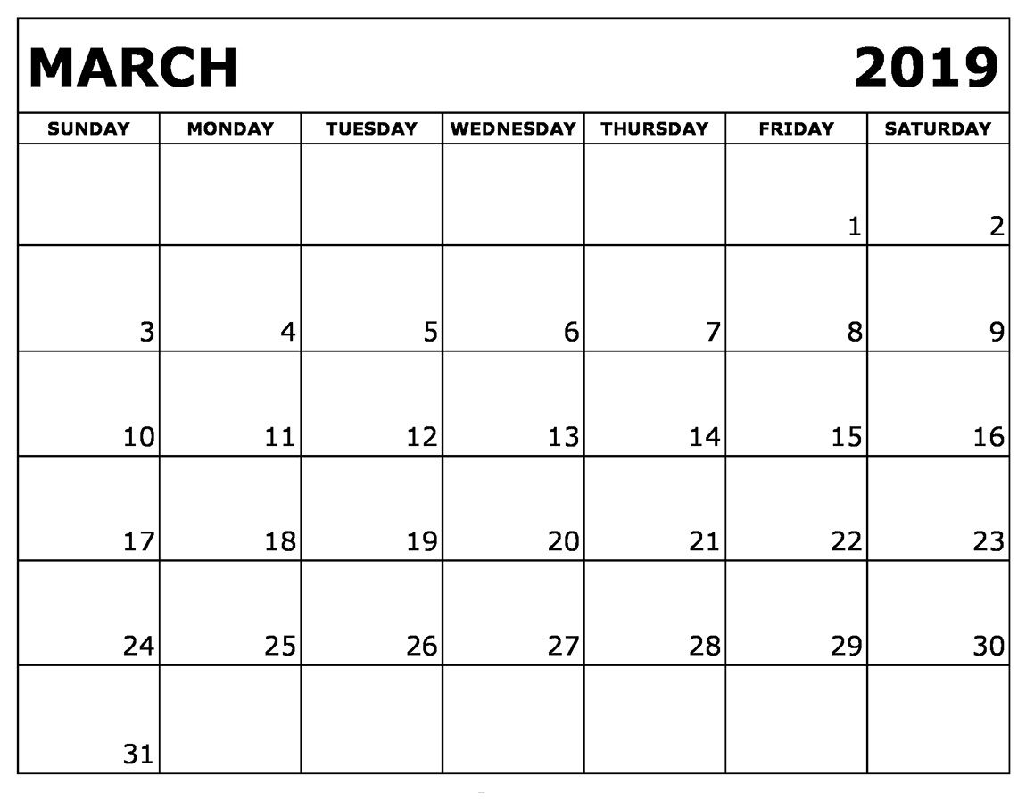 Printable March 2019 Calendar Dates | Calendar March, 2019