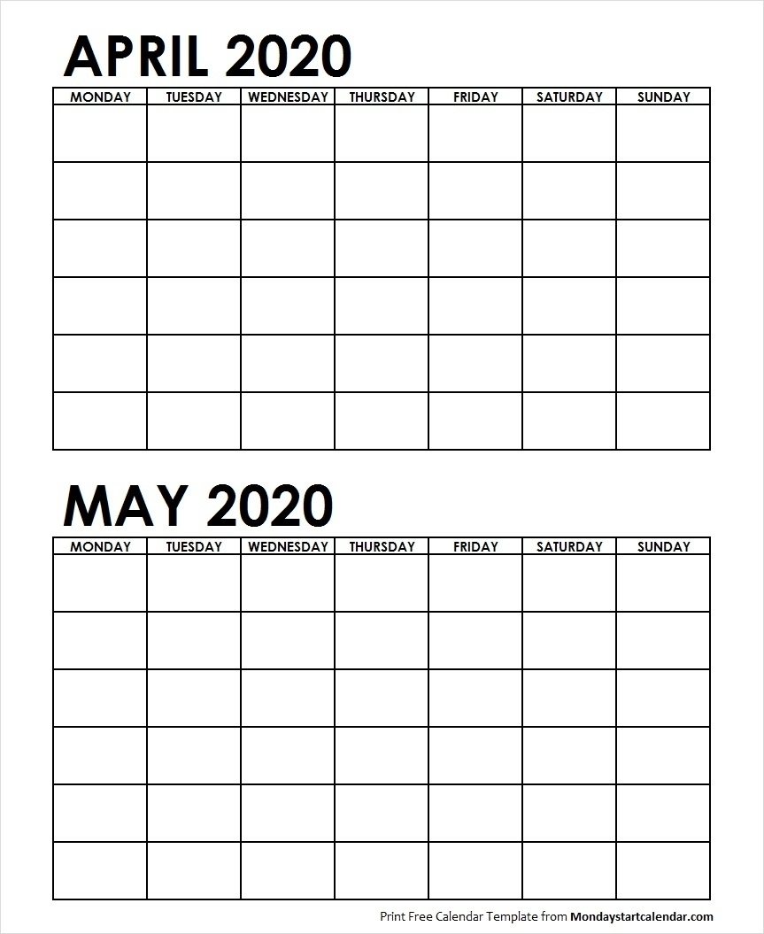 Printable May 2020 Calendar - Cerno.mioduchowski