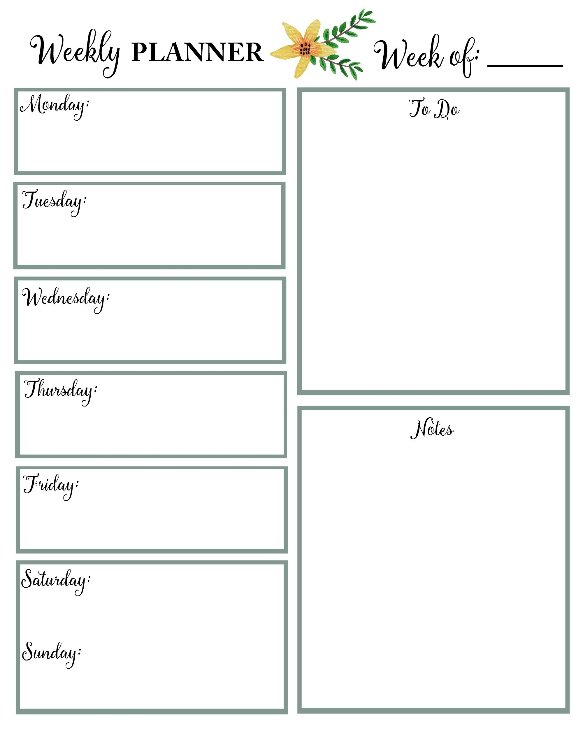 Printable Monthly Calendar | Best Free Printables | Daily