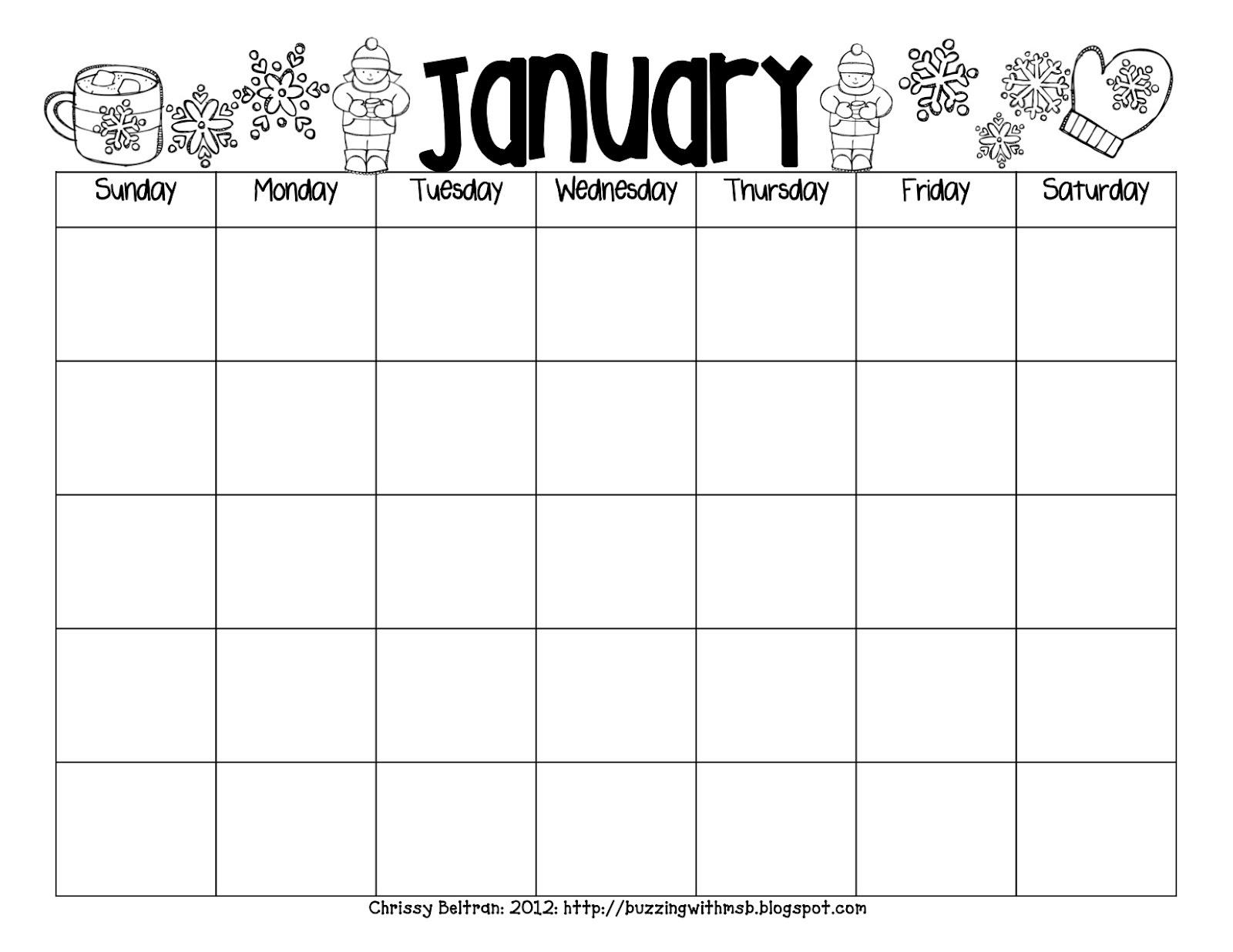 Printable Reading Calendar | Printable Calendar 2020