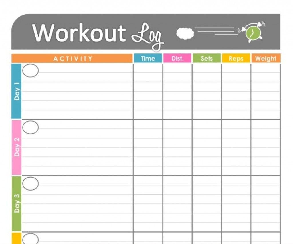 Printable Workout Calendar | Kiddo Shelter | Workout Log