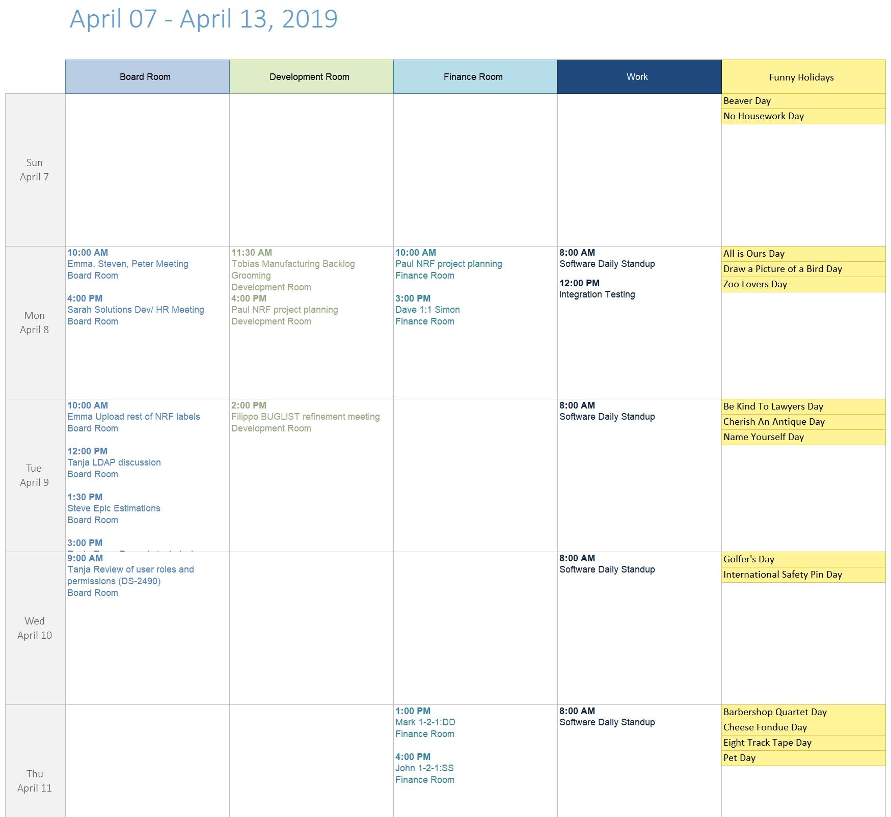 Printablecal | Calendar Columns Template