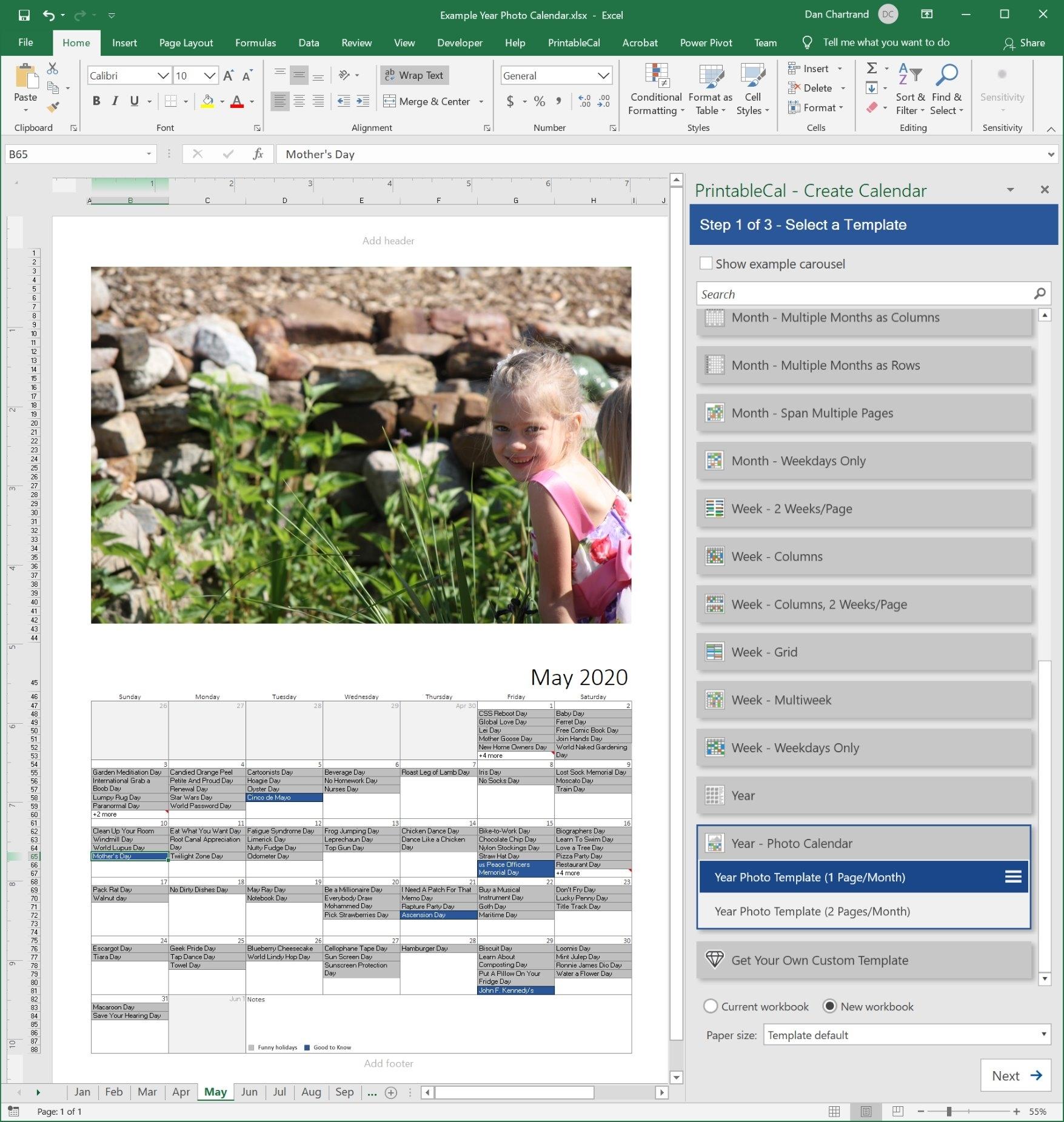 Printablecal   Create Printable Calendars