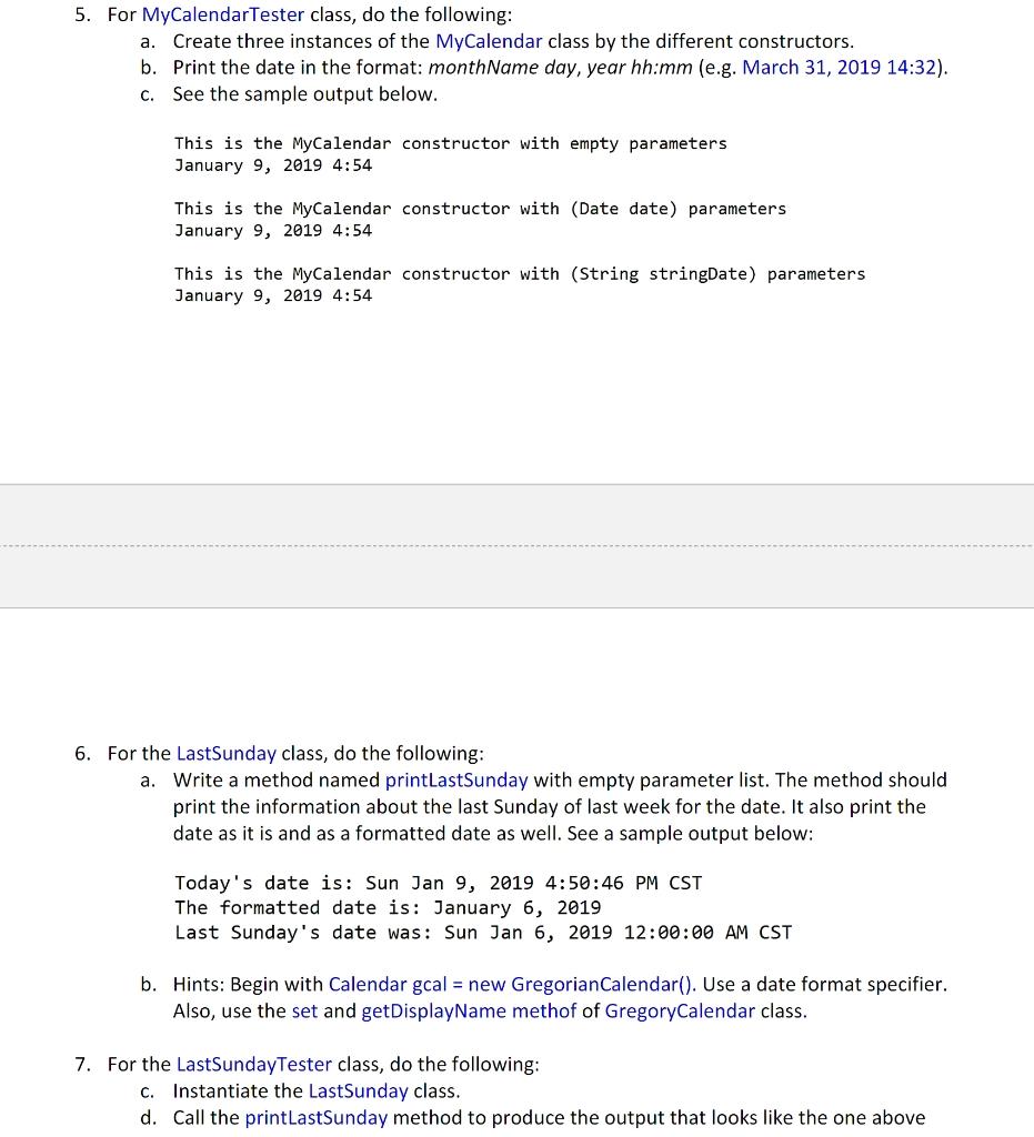 Problem #1 (15 Points): Date, Calendar, Gregorianc