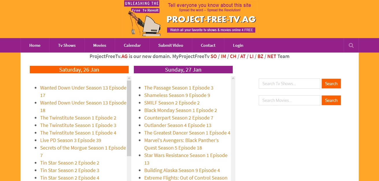 Project Free Tv - Watch All Your Favorite Tv Shows And