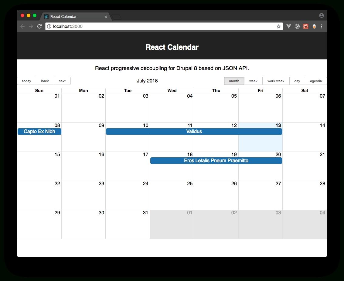 React Calendar | Drupal