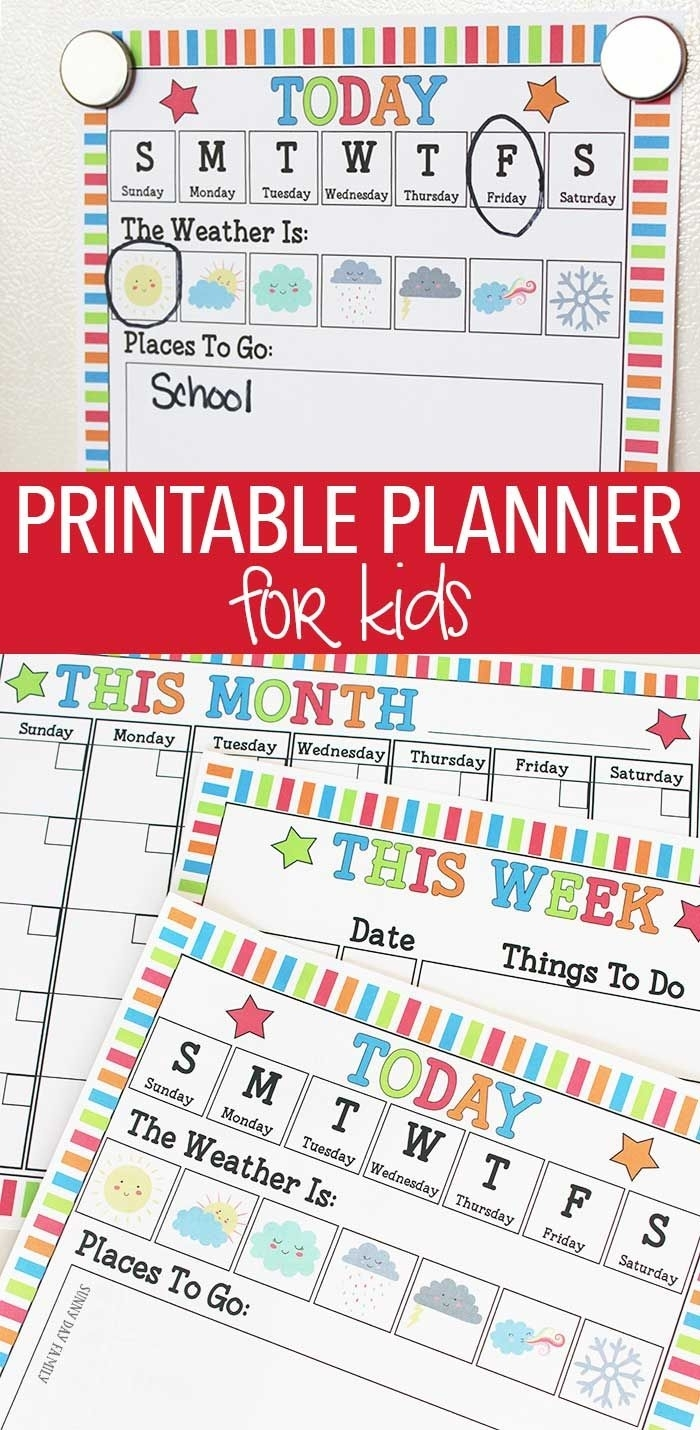 Rock Your Routine With A Printable Planner For Kids | Kids