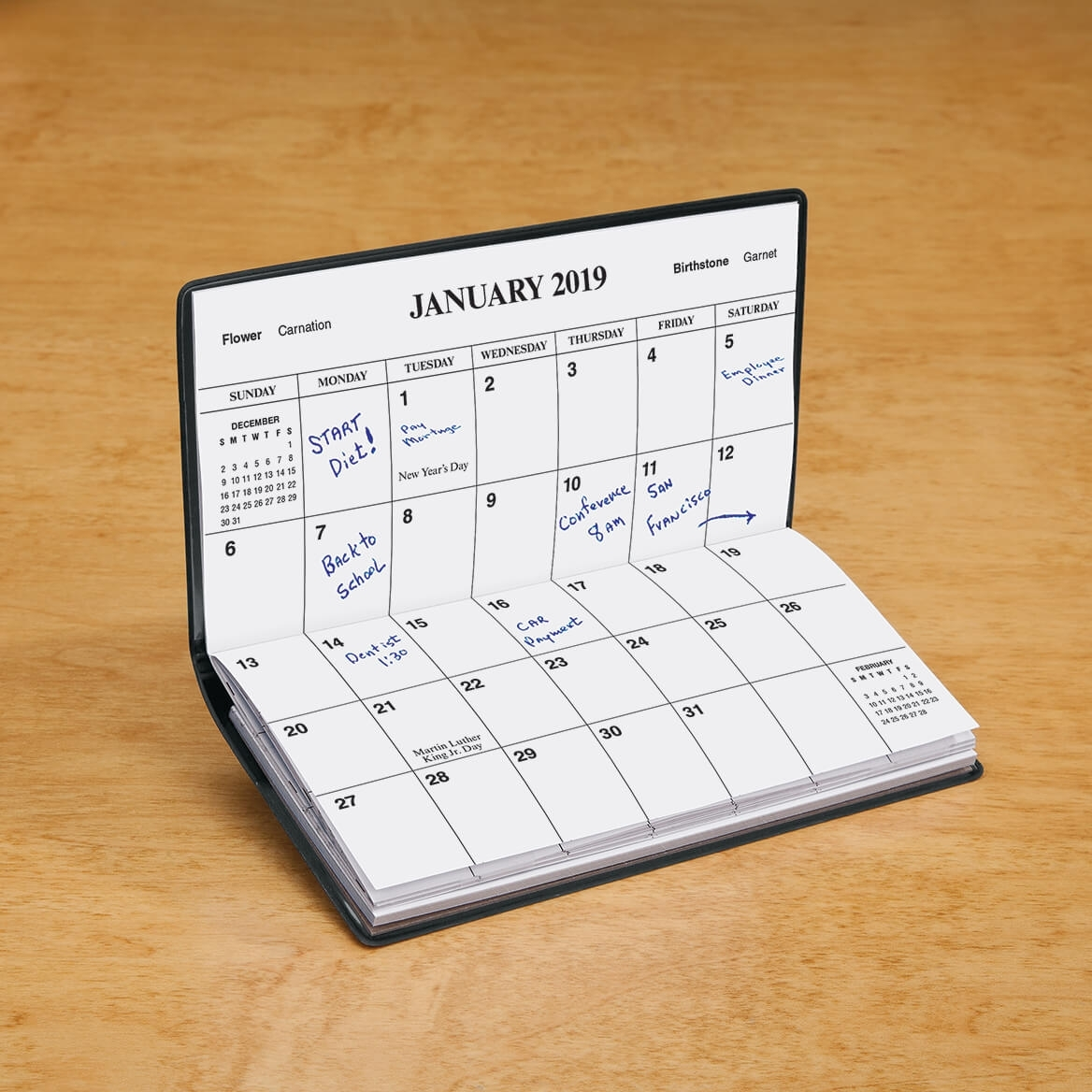 Royal Blue Personalized 2 Year Pocket Planner