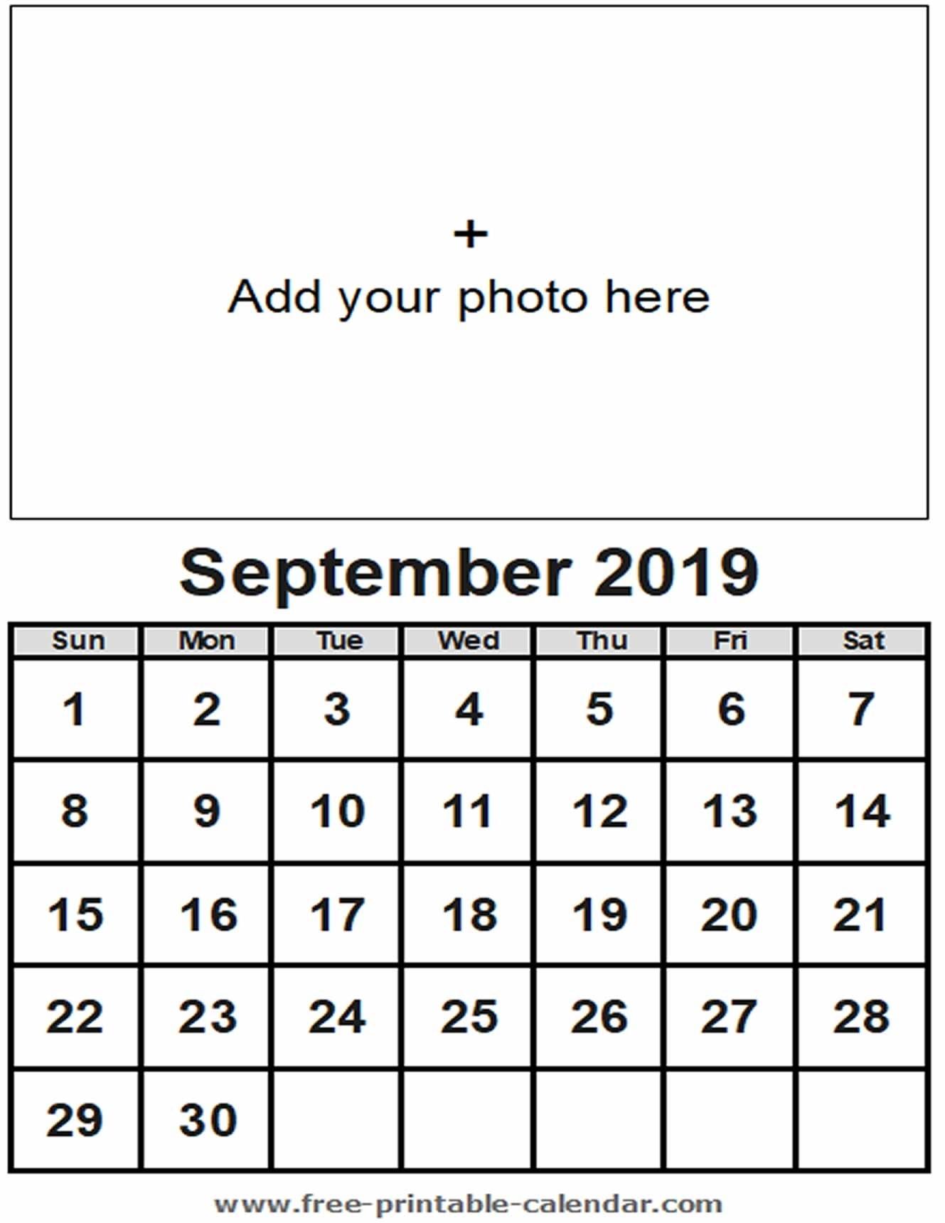 September Calendar 2019 - Free-Printable-Calendar