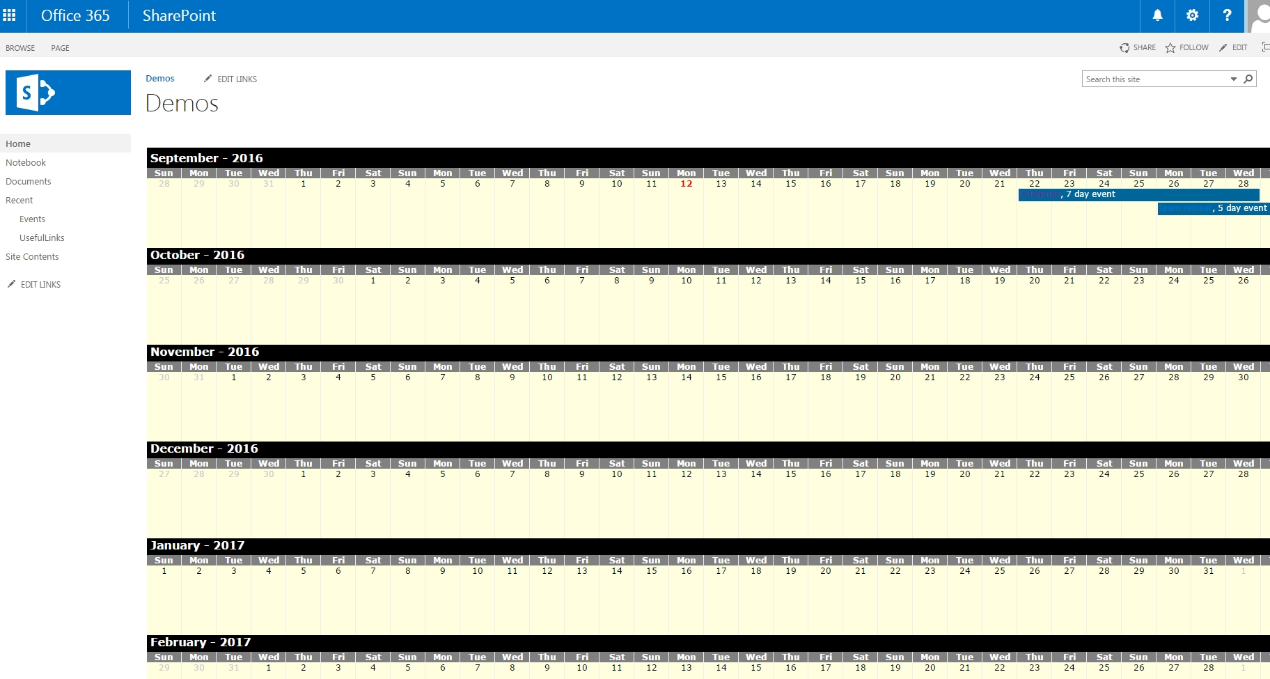 Sharepoint Year Long Calendar View Javascript — Steemit
