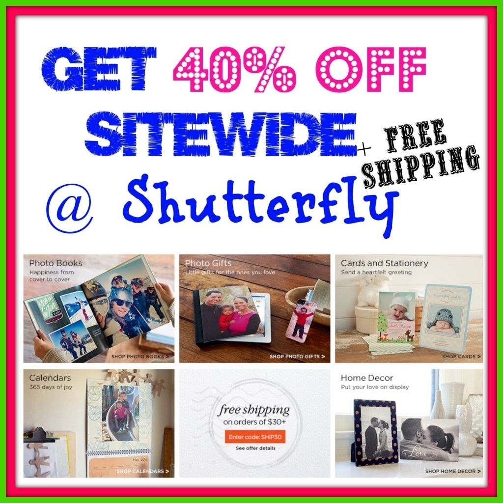 Shutterfly Coupon Codes | Deals | Shutterfly Coupon Codes