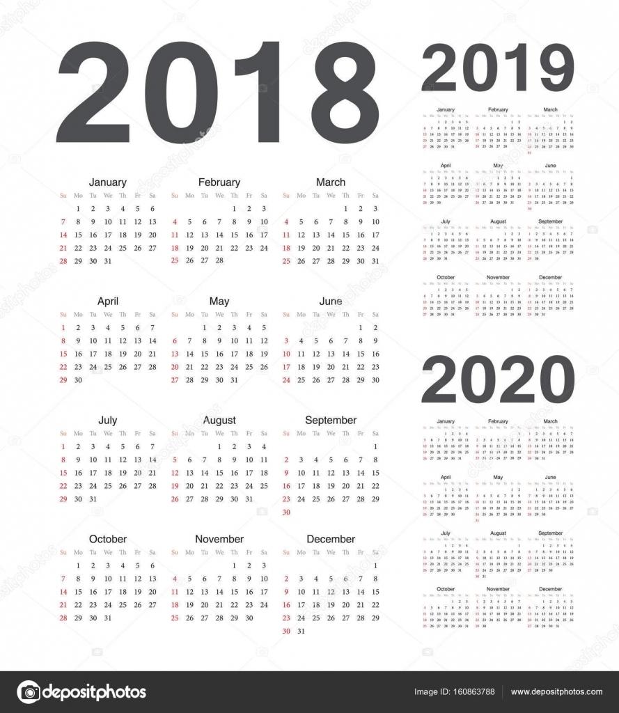 Simple European 2018, 2019, 2020 — Stock Vector © Julvil11