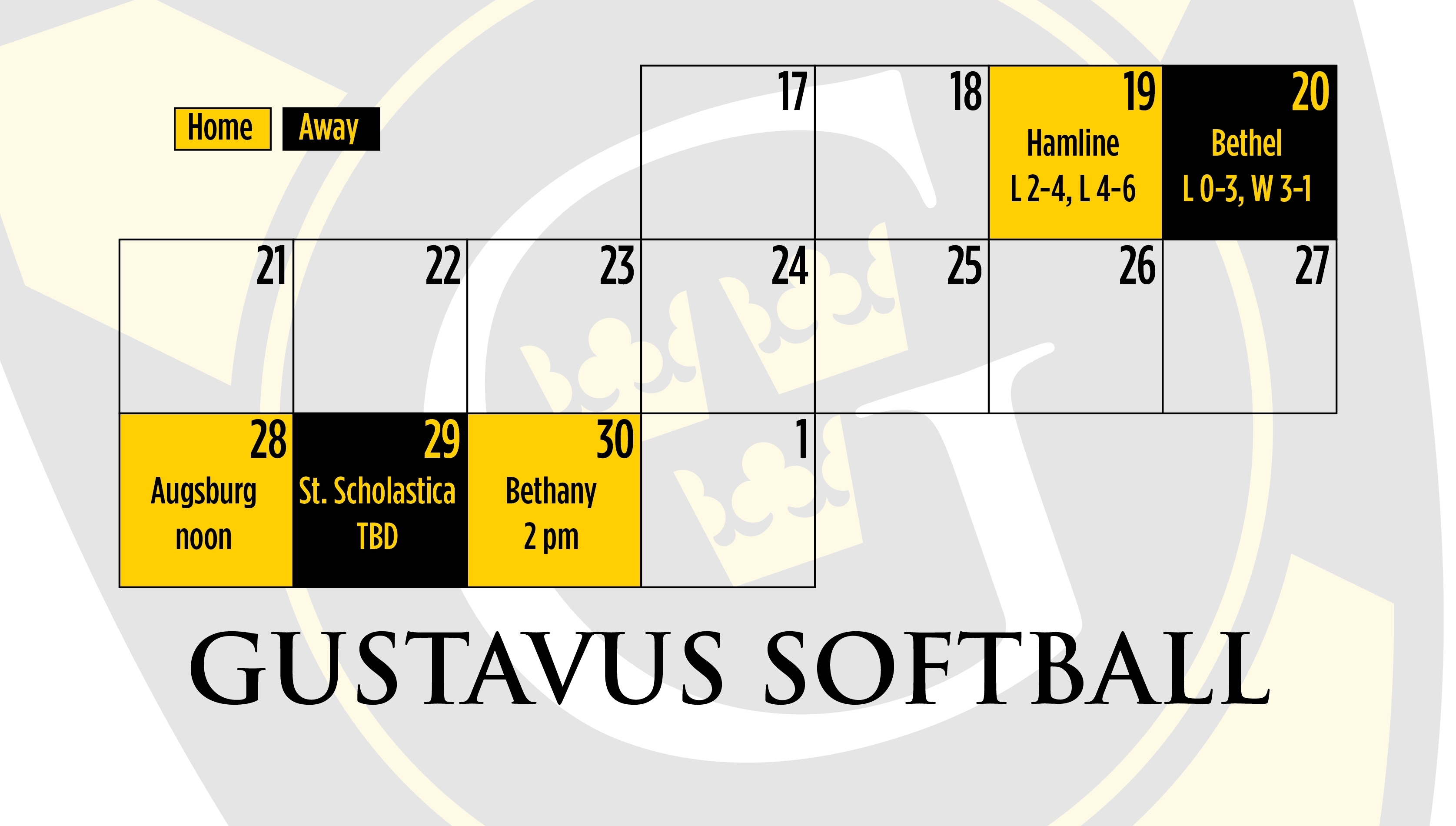 Softball Changes Schedule To Close Out Season - Posted On