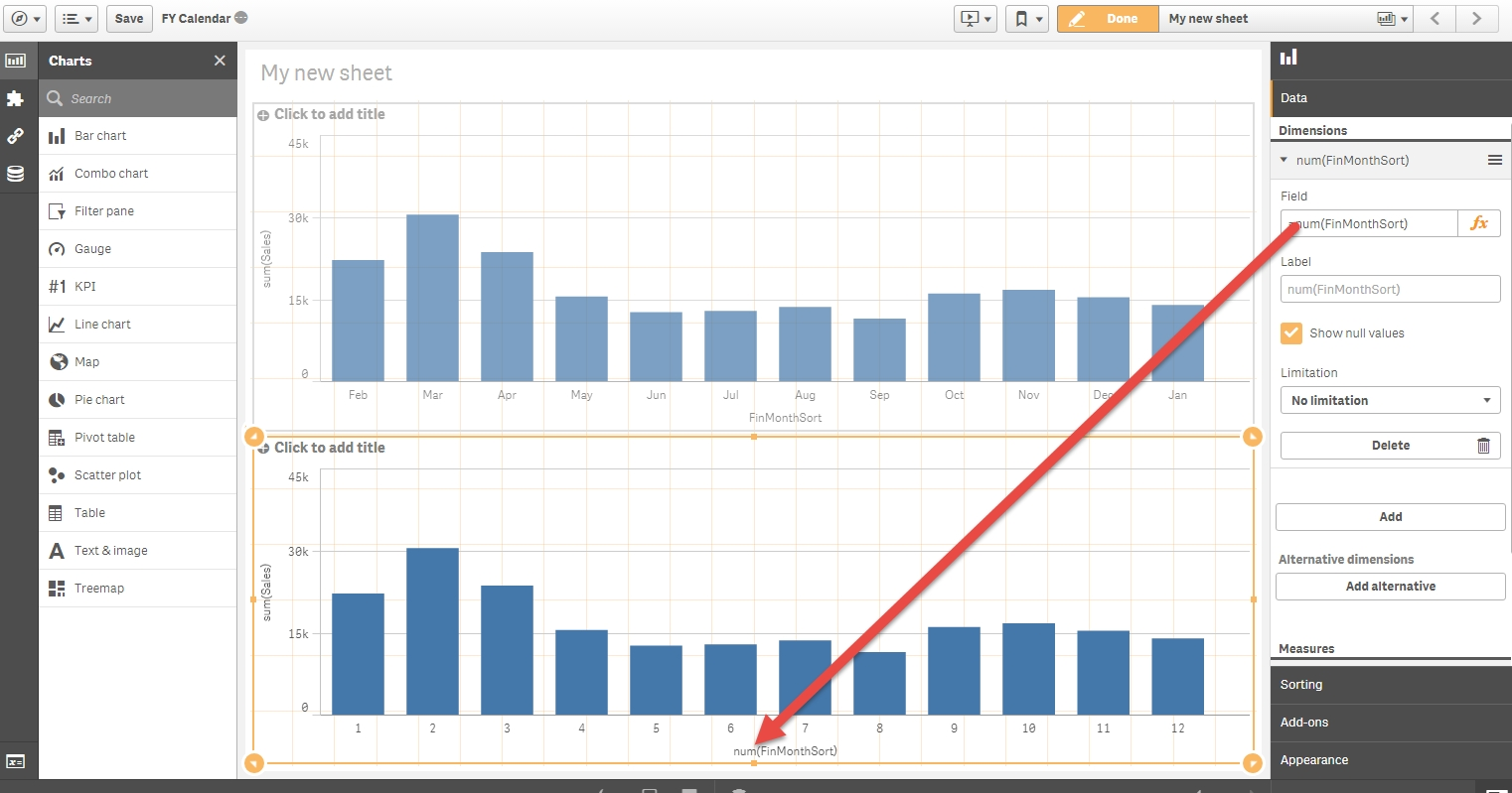 Solved: Fiscal Year/graph Question - Qlik Community