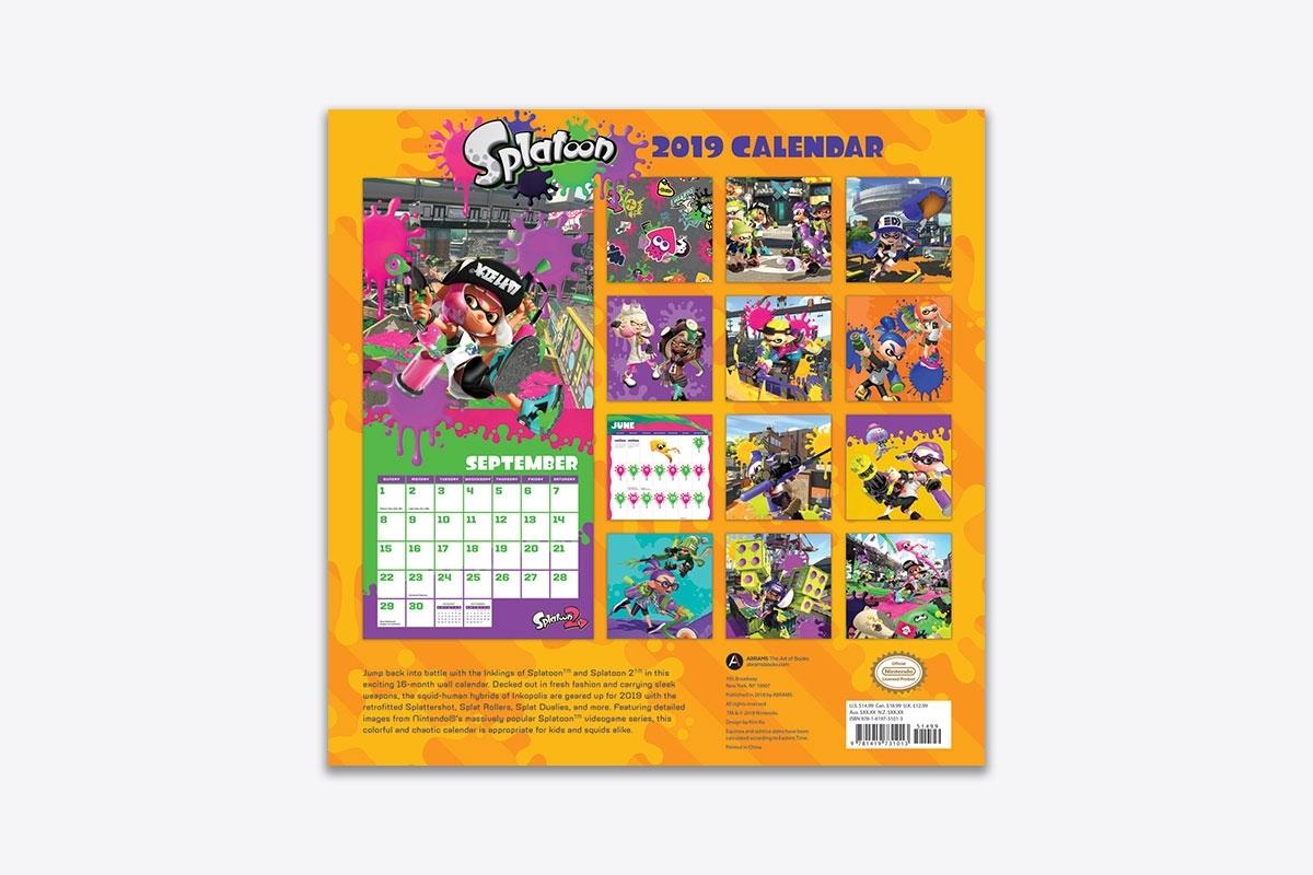 Splatoon 2019 Wall Calendar (Wall) | Abrams