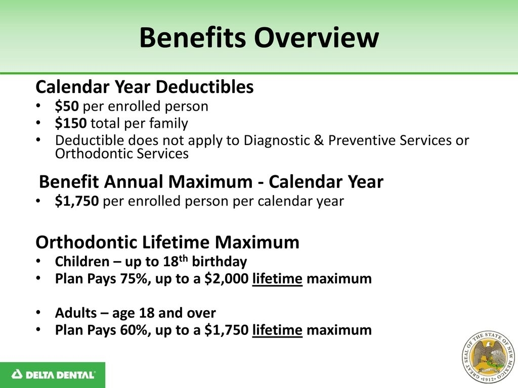 State Of New Mexico Group Dental Benefits Plan - Ppt Download