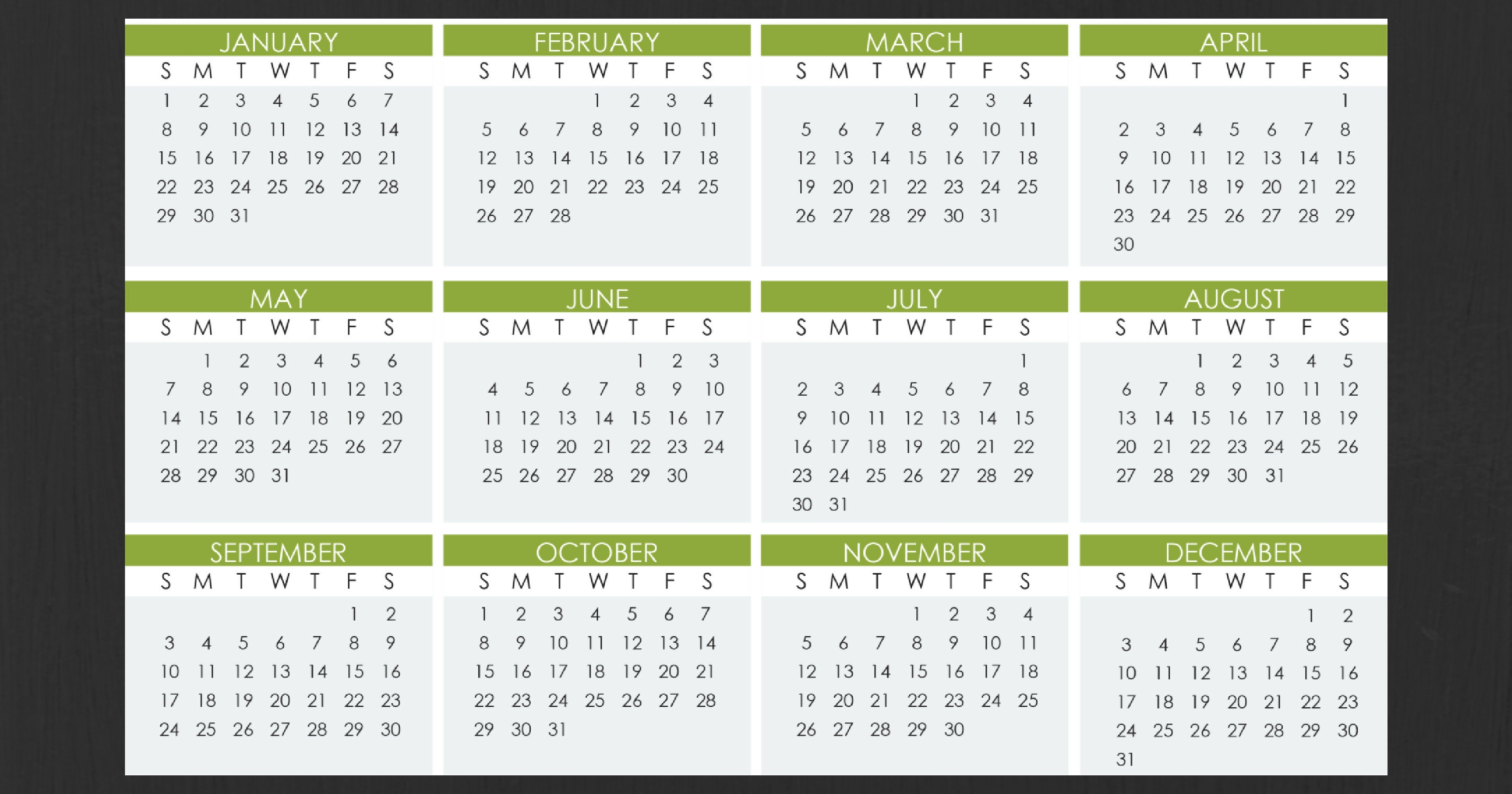 Stay Organized Next Year With Our 2017 Calendar And Tax