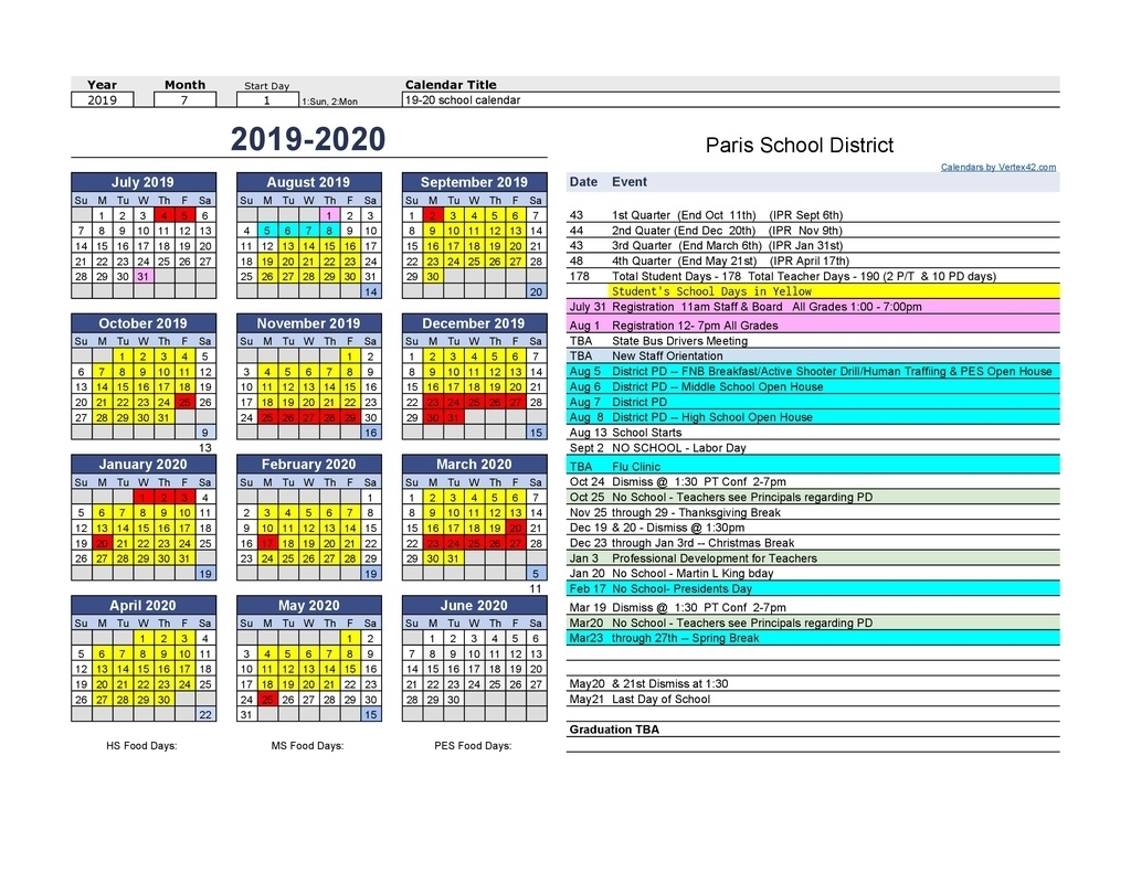 Stephen F Austin Calendar 2019 – 2020 | Calendar Template