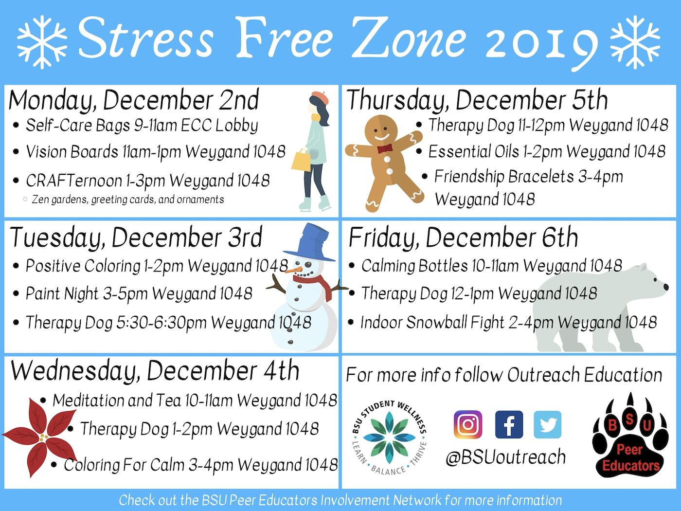 Stress Free Zone | Mybsu Student Portal - Bridgewater State