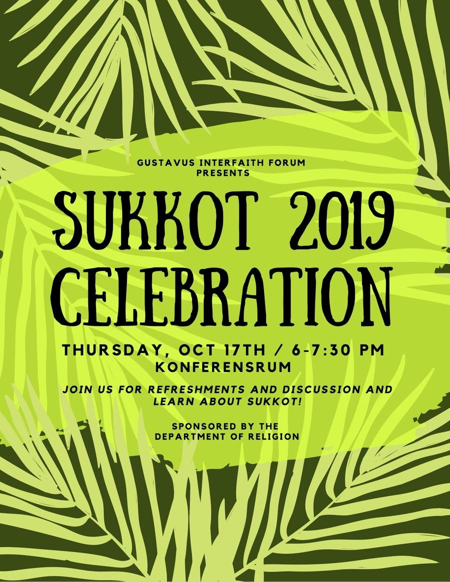 Sukkot 2019 Celebration - October 17 At 6–7:30 P.m. | Calendar