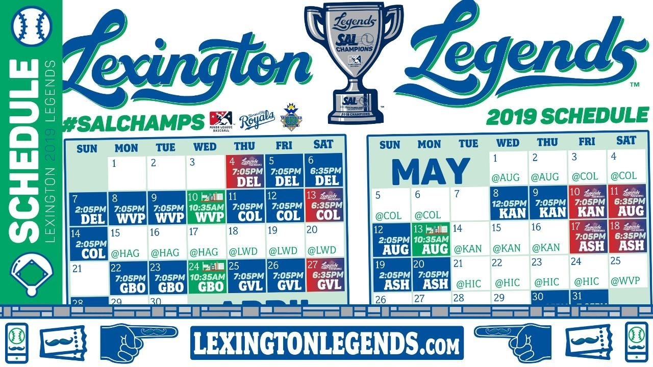 Take A Look Into The Future; Legends Announce 2019 Schedule