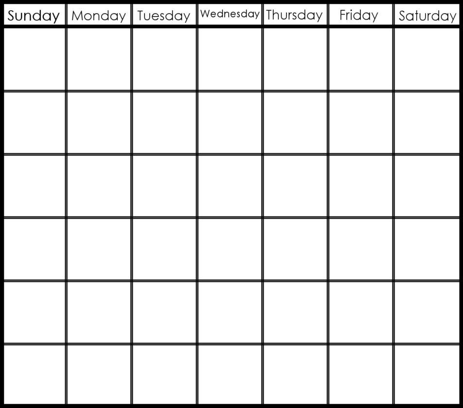 Take Blank 6 Week Calendar Template ⋆ The Best Printable