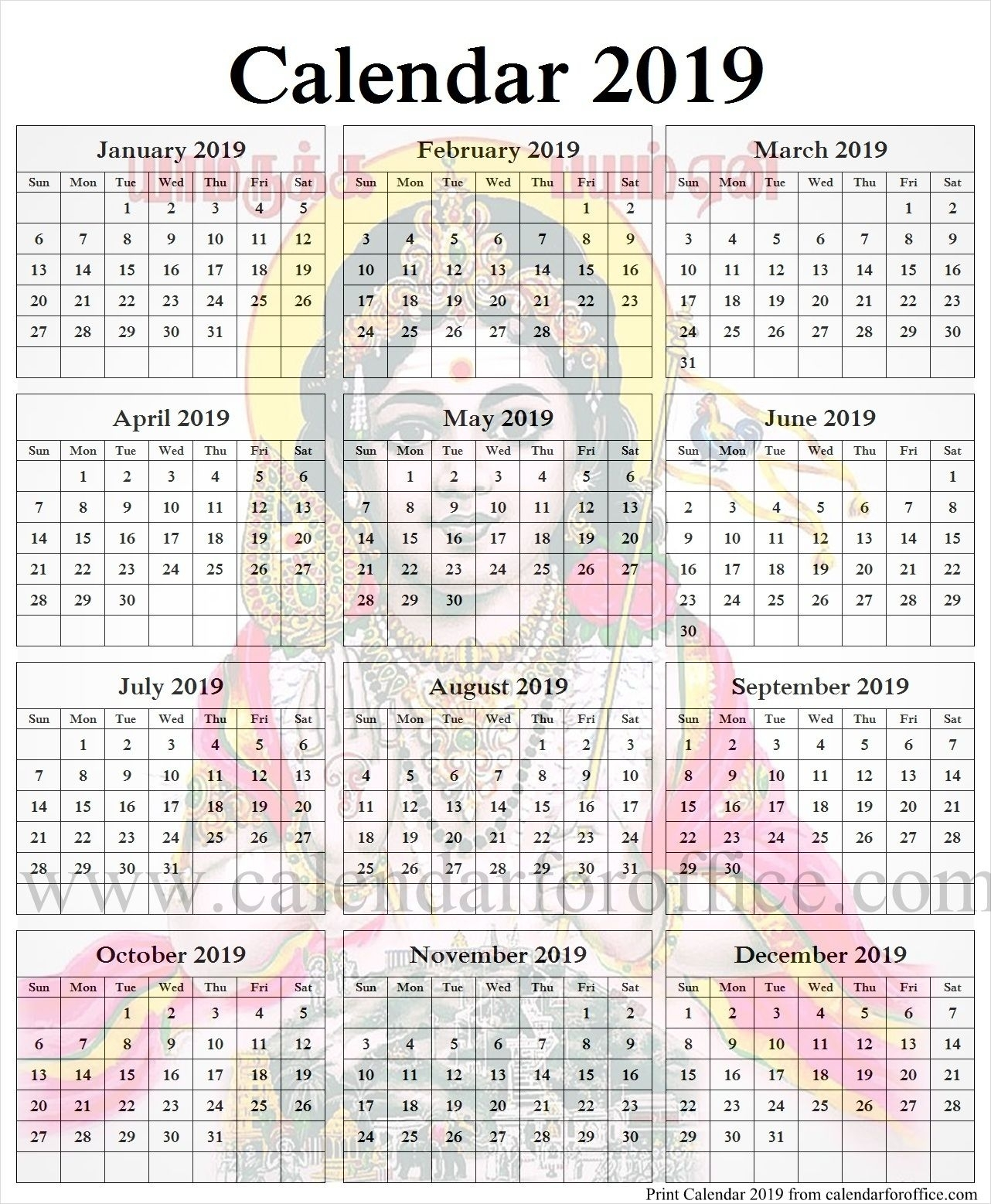 Tamil 2019 Calendar | 2019 Calendar, Calendar, Yearly Calendar